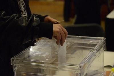 La jornada de votació es desenvolupa amb normalitat (foto: Localpres).