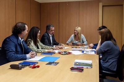 Sorea ha presentat el resultats del conveni a l'alcaldessa i als regidors de Medi Ambient i Serveis a les Persones (foto: Cesar Font).