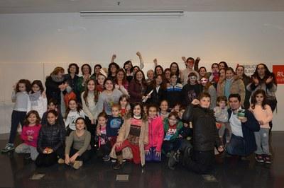 La gran delegació de la Schola al lliurament de premis (foto: Localpres)