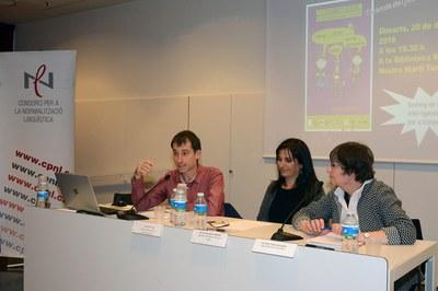 El regidor d'Educació, Sergi Garcia, ha intervingut a l'acte de cloenda (foto: Localpres).