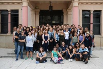 Els estudiants han visitat el consistori / Foto: Localpres.