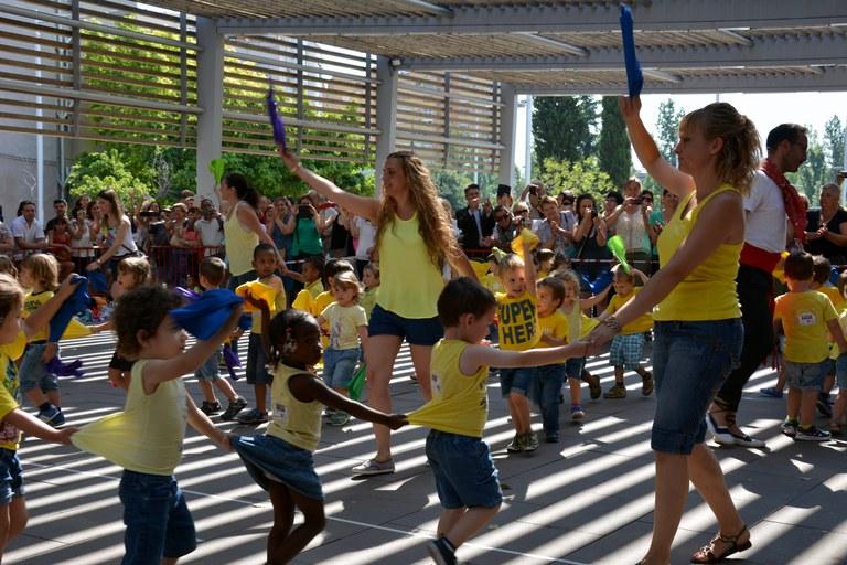 Infants de l'escola bressol Sol, Solet (foto: Localpres)
