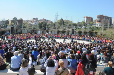 La Cantata ha comptat amb 750 cantaires (foto: Localpres).