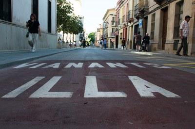 El tram de l'illa integrat pels carrers Maximí Fornés, Pere Esmendia i Doctor Turró funciona les 24 hores tots els dies de la setmana (foto: Localpres).