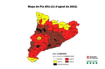 Mapa de Pla Alfa (foto: Generalitat de Catalunya).