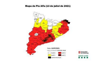 El Vallès Occidental compta amb un elevat risc d'incendi forestal aquest dimarts (foto: Ajuntament de Rubí).