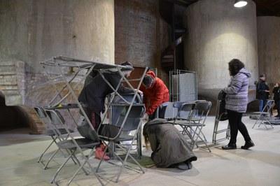 El taller s'ha desenvolupat a la sala de Les Tines del Celler.