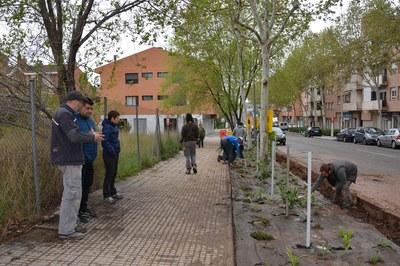 El regidor d'Obra Pública ha visitat in situ els treballs realitzats