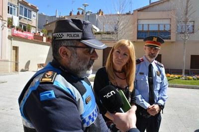 Ana Maria Martínez ha comparegut amb els responsables policials.