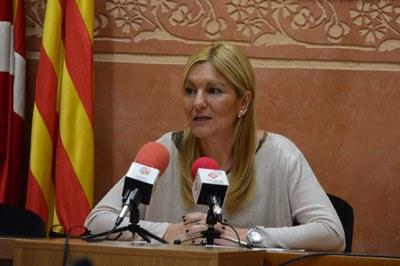 L'alcaldessa ha comparegut per valorar l'anunci del conseller (foto: Localpres).