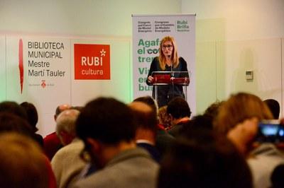 L'alcaldessa durant el discurs de benvinguda (foto: Localpres).