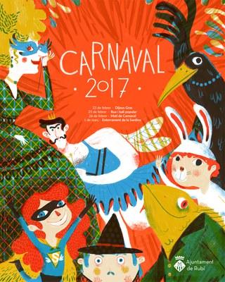 """El cartell """"Un Carnaval com cal"""" d'Anna Aparicio."""