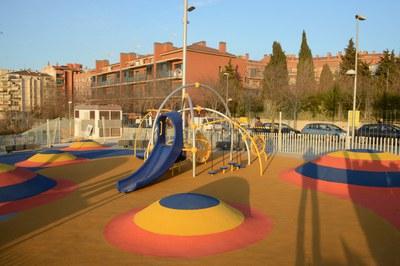 El nou parc de La Serreta incorpora àrees de joc innovadores, que fugen dels usos tradicionals dels parcs (foto: Localpres).