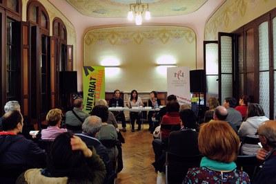Presentació de la 22a edició del Voluntariat per la Llengua a l'Ateneu (foto: Localpres).