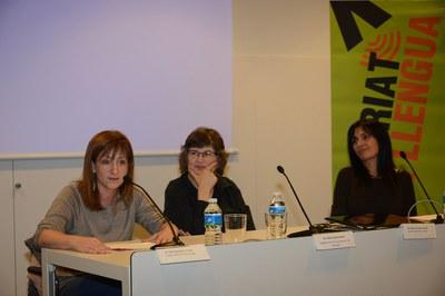 La regidora Marta García, durant la presentació (foto: Localpres)
