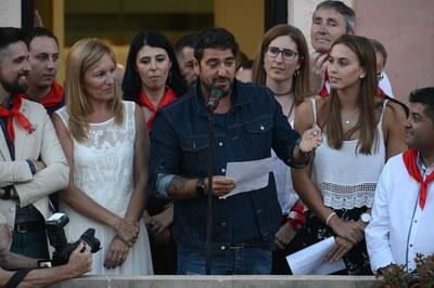 Antonio Orozco durant el pregó (foto: Localpres).