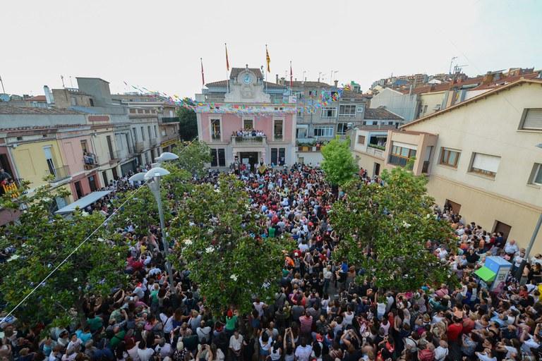 La plaça plena (foto: Localpres)