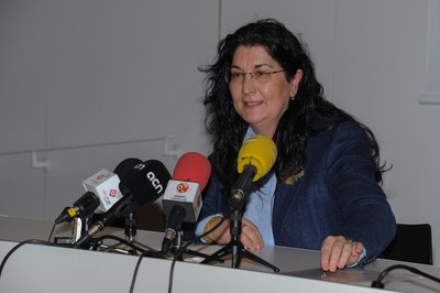 Carme García a la roda de premsa (foto: Localpres)
