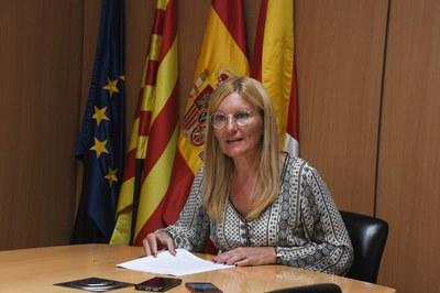 L'alcaldessa ha expressat la seva il·lusió per l'inici de les obres (foto: Ajuntament de Rubí – Localpres).
