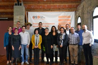Participants a la sessió de la Xarxa Rubí Empresa