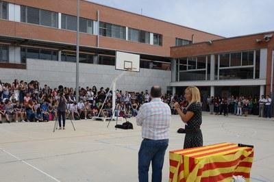 Acte d'inauguració del curs a l'INS L'Estatut (foto: Localpres).
