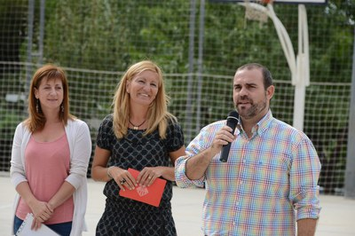 El director Víctor Garcia durant l'acte de benvinguda (foto: Localpres)