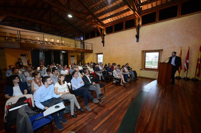 La trobada s'ha celebrat al Museu Municipal Castell (Foto: Localpres).