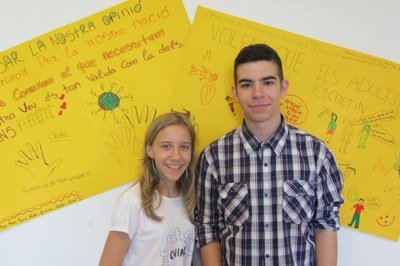 Els rubinencs Carlos Gallego i Sarina Lievens representen el Consell dels Infants de Rubí al CNIAC.