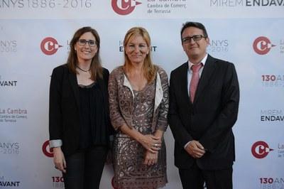 L'alcaldessa i els regidors Maria Mas i Rafael Güeto han assistit a l'acte (foto: Localpres)