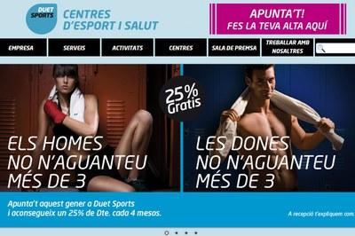 Duet Sports ha impulsat aquesta campanya publicitària amb l'objectiu de captar nous socis (foto: www.duetsports.com).