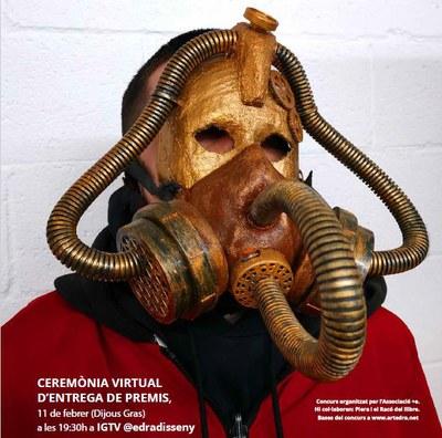 Detall del cartell del concurs de màscares d'aquest any (foto: edRa).
