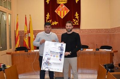 Juan López i Juan Antonio Calero han presentat el 4t Duatló Olímpic de Rubí davant dels mitjans de comunicació.