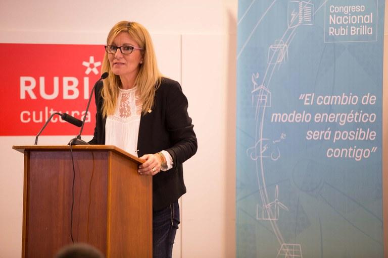 Ana María Martínez ha estat l'encarregda de tancar el 2n Congrés Rubí Brilla (foto: Localpres)