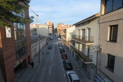 Durant pràcticament tota l'obra es mantindrà el doble sentit de circulació (foto: Ajuntament - Localpres).
