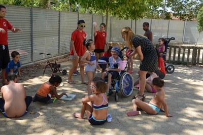 Els nens i nenes han fet activitats d'aigua (foto: Localpress).
