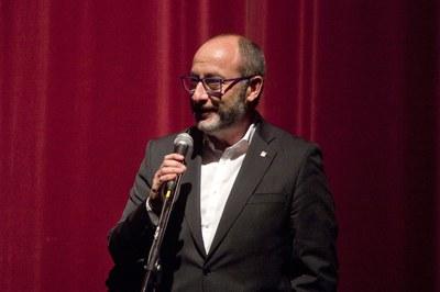 Bernat Valls durant el seu discurs (foto: Localpres)