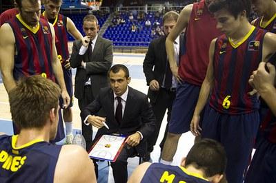 Aleix Duran, el ponent de la jornada tècnica, durant el seu pas pel FC Barcelona  (foto: FC Barcelona).