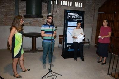 El regidor de Cultura durant la inauguració (foto: Localpres)