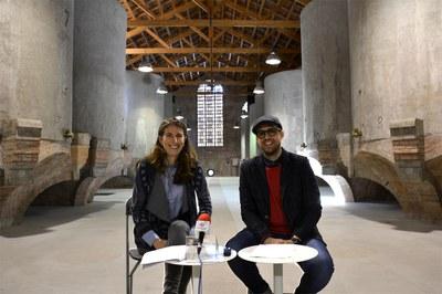 La cap de Cultura, Gemma Bustamante, amb el regidor, Moisés Rodríguez.