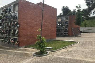 El nou espai de dol és previst que s'ubiqui en aquest punt del recinte (foto: Ajuntament de Rubí).