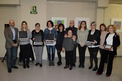 Un total de cinc rubinenques han rebut el Premi Santa Águeda (foto: Localpres).