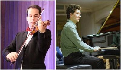 Pau Mercadal al violí i Rafael Roca al piano.