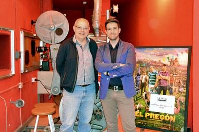 El director del Teatre Municipal La Sala, Àngel Miguel, amb el regidor de Cultura, Moisés Rodríguez.