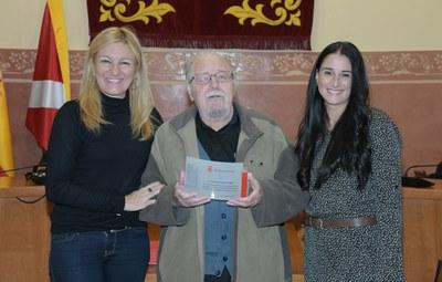 El ple d'aquest dimarts ha homenatjat Armand Estella per la seva dedicació al Consell (foto: Ajuntament de Rubí - Localpres).