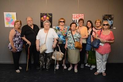 Els consellers i conselleres, a l'exposició de cartells de Festa Major (foto: Localpres).