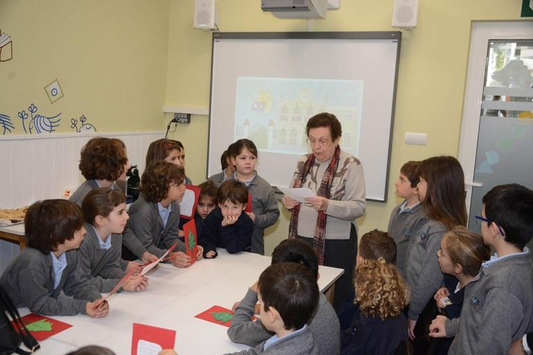 Durant la trobada, s'han intercanviat nadales, contes i cançons (foto: Localpres)