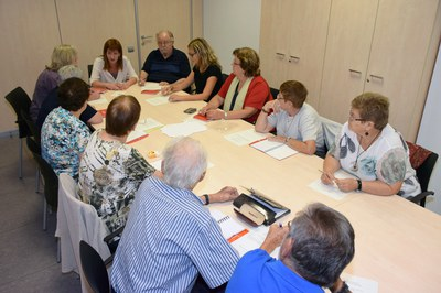 Darrera reunió del Consell de la Gent Gran (foto: Localpres).