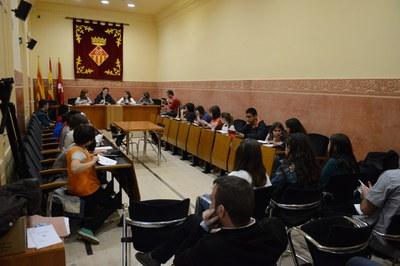 El plenari del Consell dels Infants s'ha celebrat aquest dimecres a la Sala de Plens de l'Ajuntament (foto: Localpres)