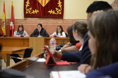 L'alcaldessa, Carme García, ha agraït la tasca que han realitzat els consellers i conselleres durant aquests anys (foto: Localpres)
