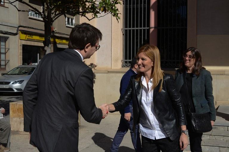 Ana María Martínez ha rebut el conseller de Justícia a l'Ajuntament (foto: Localpres)